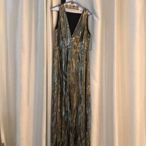 Alice and Olivia gold lame gown